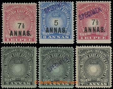 228970 - 1894-1895 SG.27-30, Light and Liberty 5A a 7½A, navíc 5A S