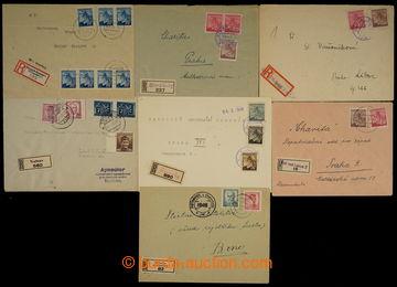 229062 - 1945 ČECHY / sestava 10ks R-dopisů s provizorními raz neb