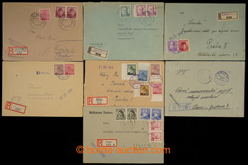 229067 - 1945 ČECHY / sestava 10ks R-dopisů s provizorními raz. ne