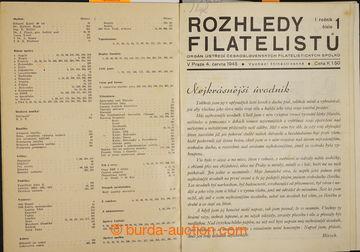 229078 - 1945-1950 ČESKOSLOVENSKÁ FILATELIE / sestava 6 ročníků,