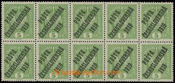 229080 -  Pof.34 ST, Koruna 5h světle zelená, 10-blok s 2 zn. s pod