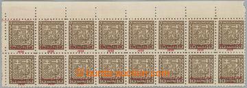 229086 - 1939 Sy.3 ZPP, Znak 10h, levý horní rohový 16-pás s VV -