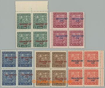 229090 - 1939 Sy.2-5 VPP, Znak 5h - 30h, 4-bloky s vodorovným posune