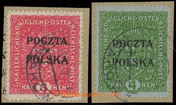 229107 - 1919 Mi.45-46 (Fischer 47-48), Znak 3K žilkovaný papír a