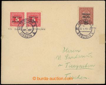 229109 - 1919 KRAKOVSKÉ VYDÁNÍ / dopis vyfr. přetiskovou zn. Koru