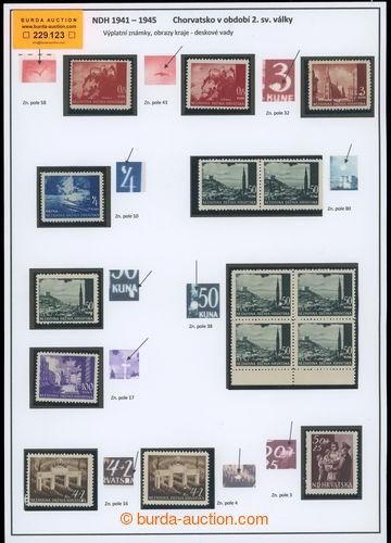 229123 - 1941 DESKOVÉ VADY / sestava 11 známek emise Krajinky (1x p
