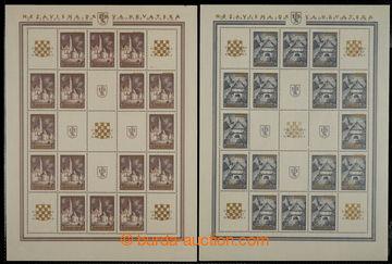 229124 - 1941 ARCHOVINA / Mi.39A-40A, 1,50+1.50Din + 4+3Din se zlatý