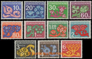 229141 - 1971 Pof.D92-101 a D103, Květy 10h - 6Kčs, kompletní sest