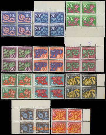 229143 - 1971 Pof.D92-101 a D103, Květy 10h - 6Kčs, kompletní sest