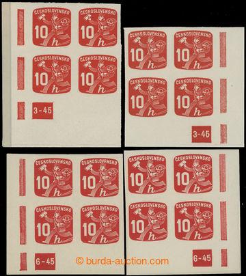 229157 - 1945 Pof.NV24 DČ, Novinové 10h, pravé a levé dolní roho