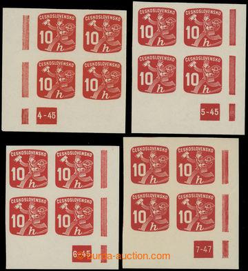 229159 - 1945 Pof.NV24 DČ, Novinové 10h, sestava 4ks dolních rohov