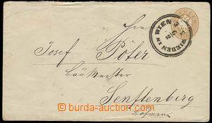 22917 - 1865 celinová obálka 15Kr, Mi.U35, DR Wieden in Wien 8/9,