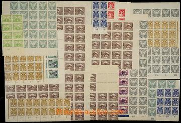 229190 - 1918-1926 SESTAVA / bloků a částí archů z různých emi