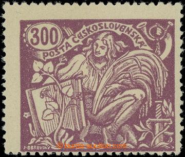 229195 -  Pof.175B, 300h fialová, III. typ, HZ 13¾ : 13½; svěží