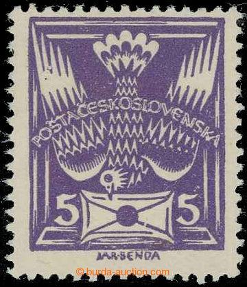 229238 -  Pof.144A R3, 5h fialová, retuš ZP 100; svěží, zk. Kar