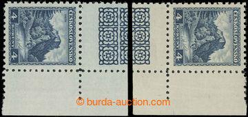 229246 - 1932 Pof.266 KD+KH, Orlík 4Kč modrá, 2 pravé rohové kus