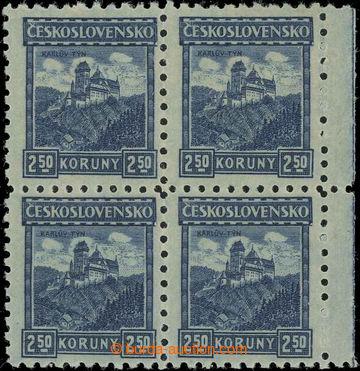 229248 -  Pof.215 P8, Karlštejn 2,50Kč modrá, pravý krajový 4-bl