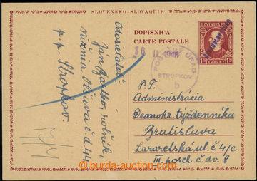 229298 - 1946 VÝPOTŘEBNÍ VYDÁNÍ / slovenská mezinárodní dopis