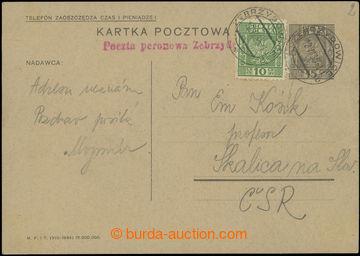 229304 - 1935 Poczta peronowa Zebrydowice - červené řádkové raz.