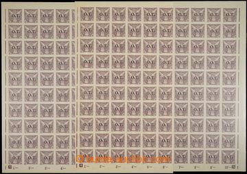 229319 - 1934 ARCHOVINA / Pof.OT1, 10h fialová, 2x kompletní 100ks
