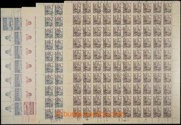 229326 - 1946-1949 ARCHOVINA / Pof.L19, Letecké motivy 9Kčs, komple