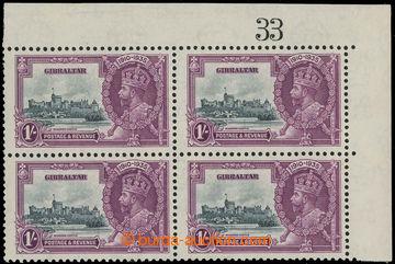 229442 - 1935 SG.117c+117, Jubilejní 1Sh, pravý horní rohový 4-bl