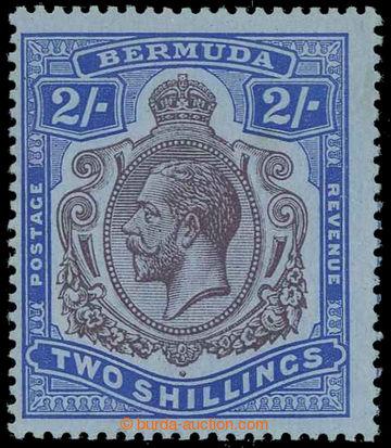229444 - 1918-1922 SG.51ba, Jiří V. 2Sh modrá s DV - BREAK IN SCRO