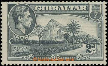 229448 - 1938-1951 SG.124ab, Jiří VI. 2P šedá s variantou průsvi