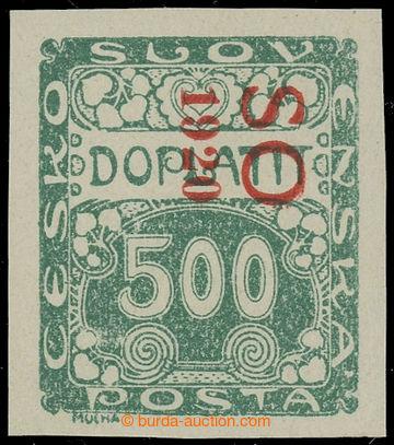 229551 -  Pof.SO42 PSv, Doplatní 500h zelená, svislý (!) červený