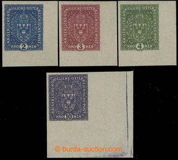 229566 - 1916 VÝPLATNÍ / VELKÝ FORMÁT /  Mi.200IU-203IaU, Znak 2K