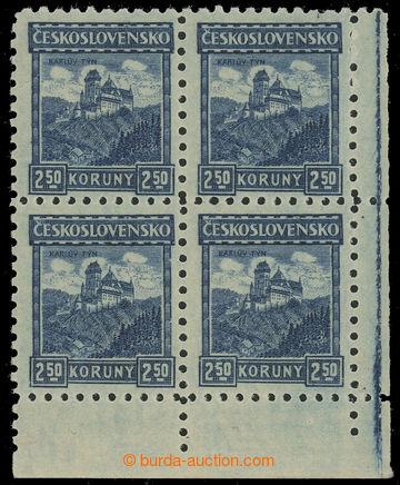 229578 - 1926 Pof.215 P6, Karlštejn 2,50Kč modrá, pravý dolní ro