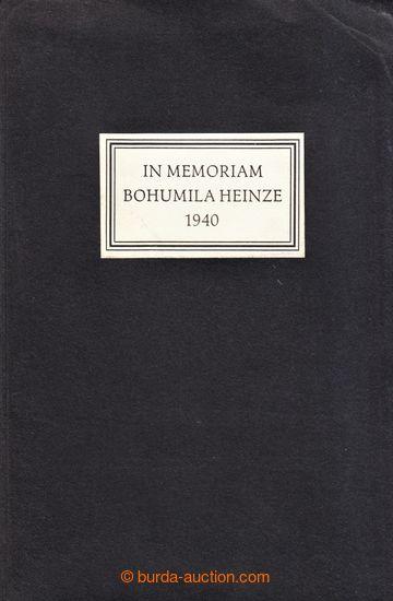 229600 - 1942 IN MEMORIAM BOHUMILA HEINZE 1940 / významná publikace