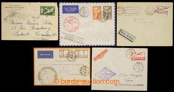 229729 - 1935-1938 SESTAVA / 5 Let dopisů přepravených 1. LETY v r