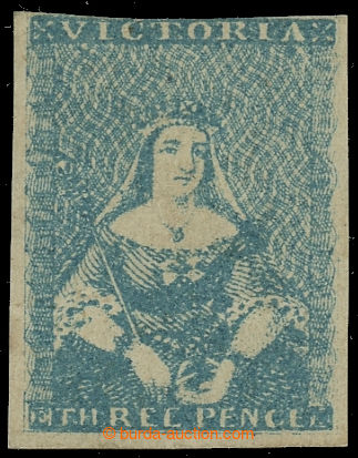 229741 - 1854-1857 SG.29a, Viktorie 3P greenish blue; velmi pěkný e