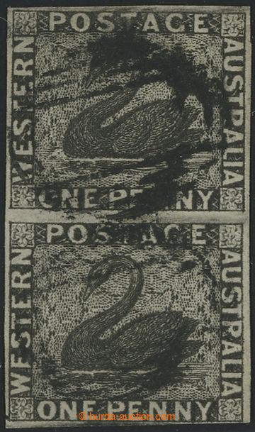 229742 - 1854 SG.1, Black Swan 1P ve 2-pásce; bezvadný střih, kat.