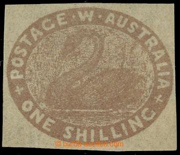 229743 - 1855 SG.4c, Black Swan 1Sh hnědá; bezvadný kus, vydáno b