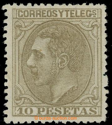 229780 - 1879 Mi.185, Alfons XII. 10Ps olivově hnědá; bezvadný ku