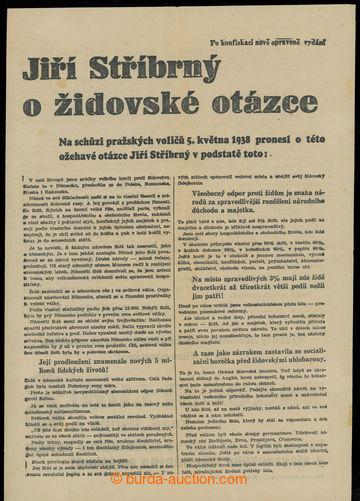 229802 - 1938 PROPAGANDA / NATIONAL LIGA - předvolební protižidovs
