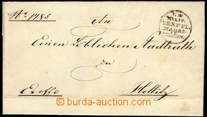 22983 - 1855 folded Ex offo letter with round cancel. KK.MILIT / VER