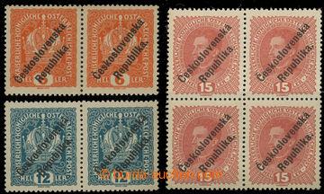 229840 - 1918 Pražský přetisk III. (Levec), hodnota 6h a 12h Korun