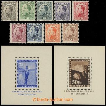 229843 - 1930 Mi.562-570, Alfons XIII. 2C - 50C, kompletní série +