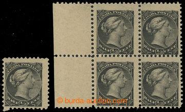 229846 - 1882 SG.101, Viktorie ½C, samostatná známka a krajový 4-