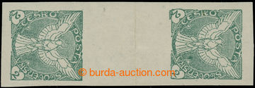 229874 - 1918 Pof.NV1Ms(2), Sokol v letu 2h zelená, svislé 2-zn. me