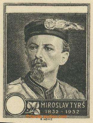 229882 - 1932 Miroslav Tyrš, otisk rytiny v černé barvě bez nomin