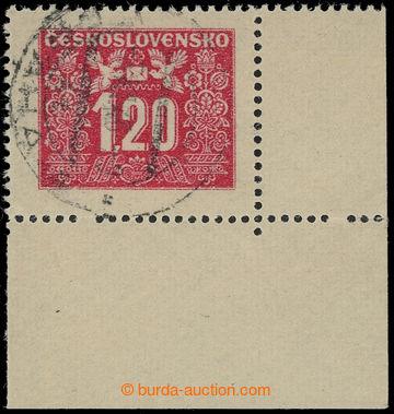 229889 - 1946 Pof.D71, razítkovaný pravý dolní rohový kus, 2x vy