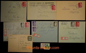 229910 - 1941-1943 GENERALGOUVERNEMENT / POŠTOVNY / sestava 7ks celi