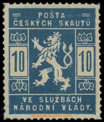229922 -  Pof.SK1a, 10h světle modrá; po nálepce, zk. Vrba