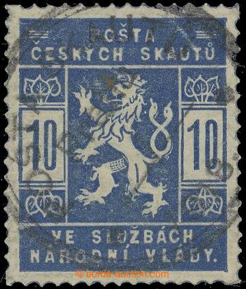 229952 -  Pof.SK1a, 10h světle modrá s raz. N.V.; zk. Vrba