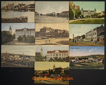 229963 -  BZENEC - sestava 10 různých pohlednic, okénková, 1x DA