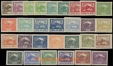 230009 -  Pof.1-26, kompletní řada (bez Pof.9N a 13N), celkem 29ks,